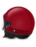 Casco Momo Design Fighter Classic Rojo Brillo Letras Burdeos