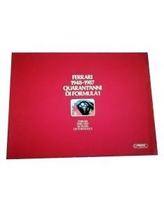 Libro Laminas Ferrari 40 years F1 1948 - 1987