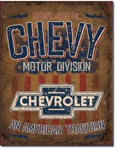 Placa Chevy American Tradition