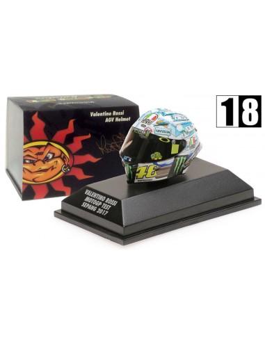Minichamps Casco AGV Valentino Rossi Moto GP Test Sepang 2017