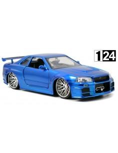 Jada Toys Nissan Skyline GTR R34 2002 Azul