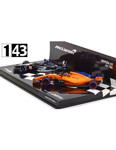 Minichamps Set McLaren MCL33 2018 / Minardi PS01 2001 Fernando Alonso
