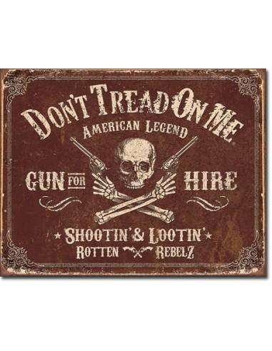 Placa DTOM Gun for Hire