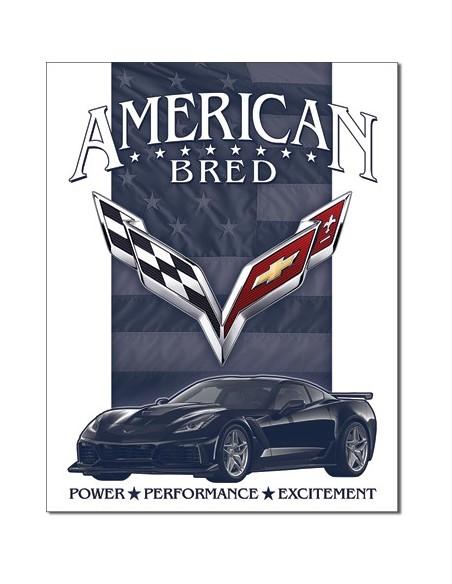 Placa Corvette American Bred