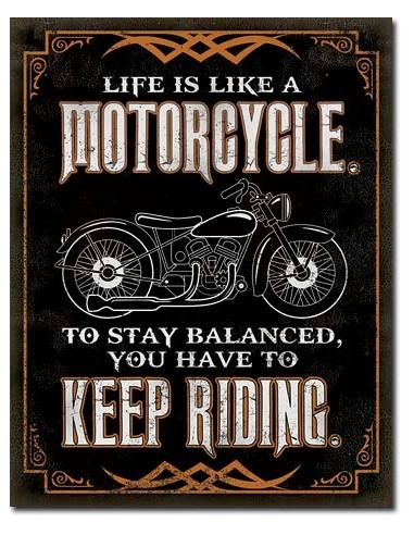 Placa Life is Life Motorcycle