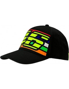 Gorra Rossi 46 Stripes Negro