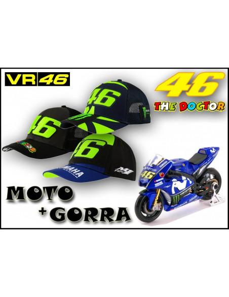 Pack Gorra VR46 - Moto Rossi Yamaha 46
