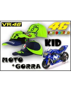 Pack KID Gorra VR46 - Moto Rossi Yamaha 46