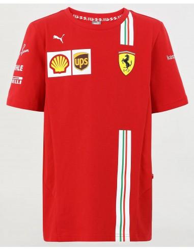 Camiseta Kid Scuderia Ferrari F1 Team 2021
