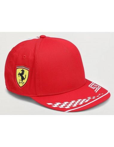 Gorra Kid Scuderia Ferrari F1 Team Leclerc 2021 Flatbrim