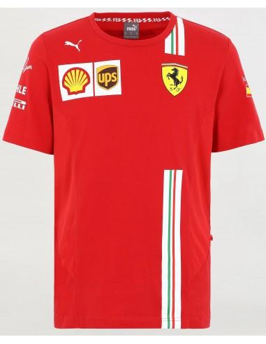 Camiseta Scuderia Ferrari F1 Team Sainz Replica 2021