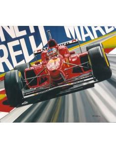 Litografia Scarlet Fever - Michael Schumacher