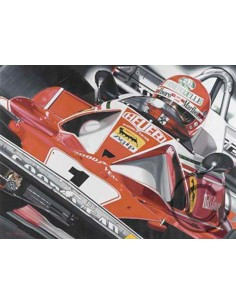 Litografia Niki - Lauda - Colin Carter