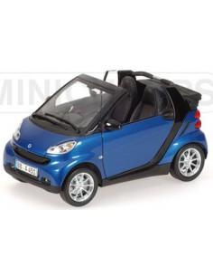 Minichamps Smart Fortwo Cabriolet (LHD) Azul Metalizado