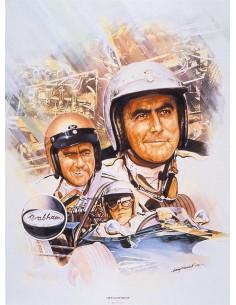 Litografia Sir Jack Brabham - Craig Warwick