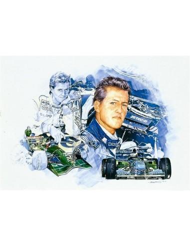 Litografia Michael Schumacher - Craig Warwick