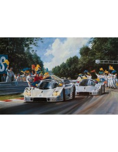 Litografia Silver Arrows - Mass & Baldi - Alan Fearnley
