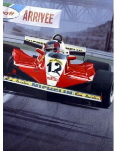Litografia Born Legend - Gilles Villeneuve - Gavin Macleod