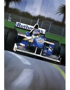 Litografia Born Racer - Jacques Villeneuve - Gavin Macleod