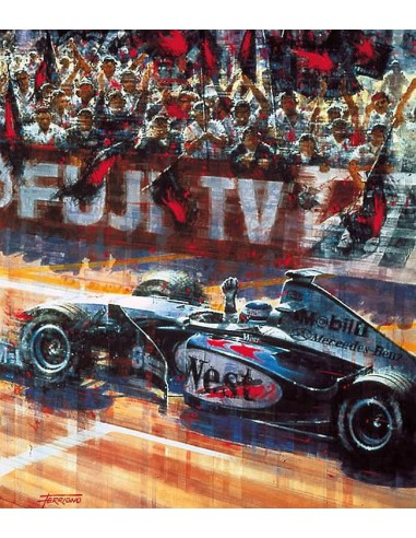 Litografia Mika Hakkinen World Champion - Juan Carlos Ferrigno