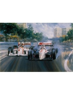 Litografia Mansell's Paradise - Nigel Mansell - Alan Fearnley