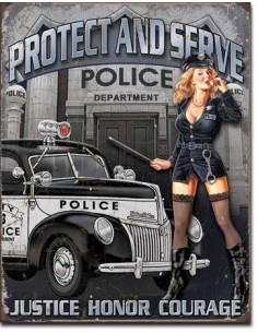 Placa Protect And Serve