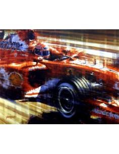 Litografia Five Times a Champion - Schumacher - Juan Carlos Ferrigno