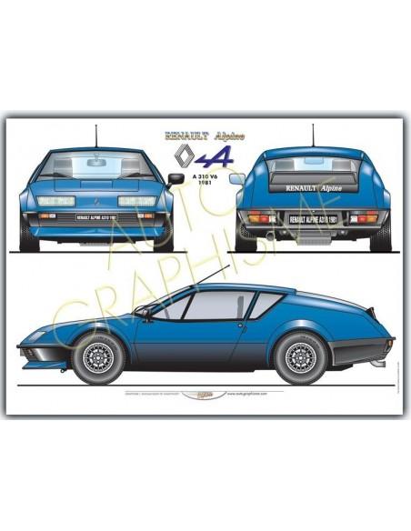 Auto-Graphisme Lamina Renault Alpine A310 V6 1981