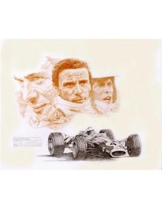 Litografia Jim Clark Lotus 49 - Patrick Brunet