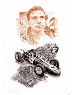 Litografia Jim Clark Lotus 25 - Patrick Brunet