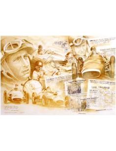 Litografia Fangio - Patrick Brunet