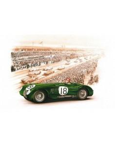 Litografia Jaguar XK 120 C Le Mans 1953 - François Bruere