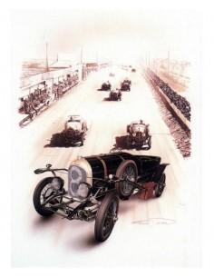 Litografia Bentley Sport Le Mans 1924 - François Bruere