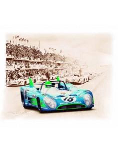 Litografia Matra Simca MS 670 Le Mans 1972 - François Bruere