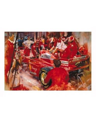 Litografia Ferrari Team Practice - Craig Warwick