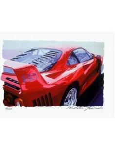 Litografia Ferrari F40 - Hideki Yoshida