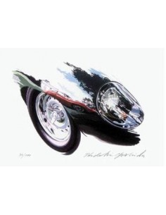 Litografia Lister Jaguar Costin - Hideki Yoshida