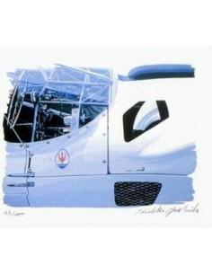 Litografia Ferrari SWB - Hideki Yoshida