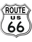 Placa Route 66 Pequeña