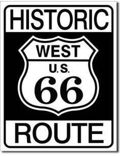 Placa Historic Route 66