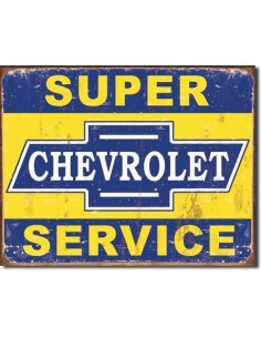 Placa Super Chevy Service