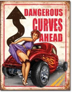 Placa Dangerous Curves