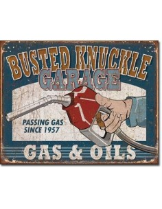 Placa Busted Knuckle Gas & Oils