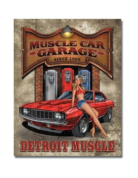 Placa Muscle Car Garage