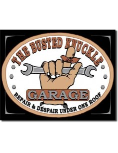 Placa Busted Knuckle Garage
