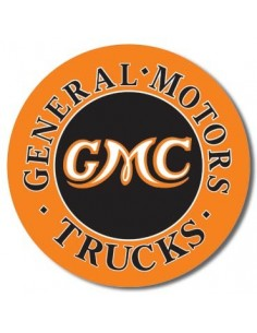 Placa GMC Trucks Round