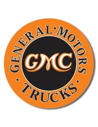 Placa GMC Trucks Round