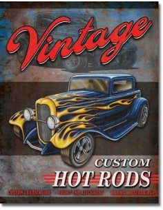 Placa Legends Vintage Hot Rods