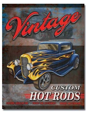 Placa Legends Vintage Hot Rods