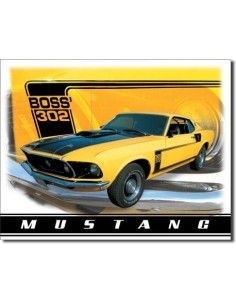 Placa Ford Mustang Boss 302